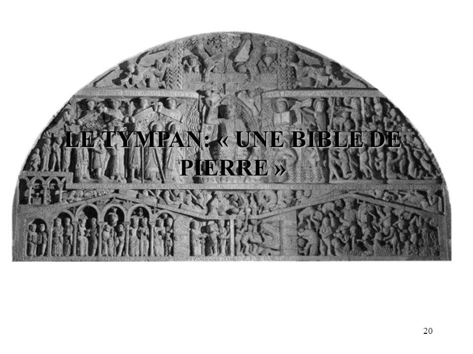 LE TYMPAN: « UNE BIBLE DE PIERRE »