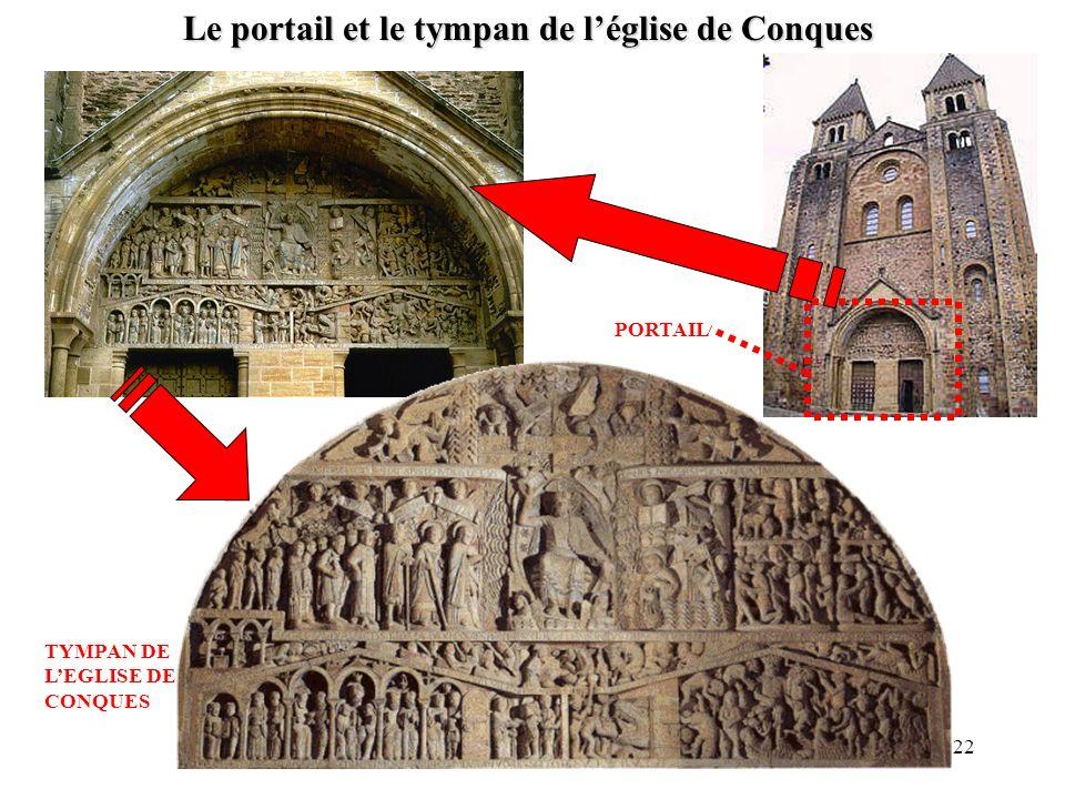Le portail et le tympan de l'église de Conques