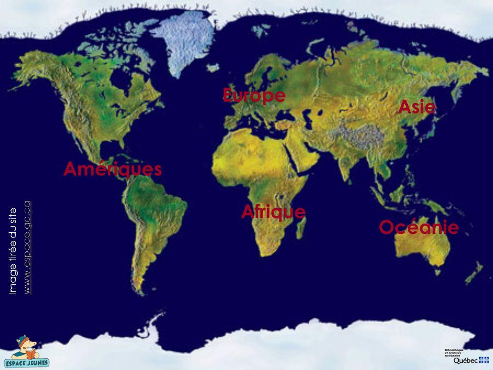 Europe Asie Amériques Afrique Océanie