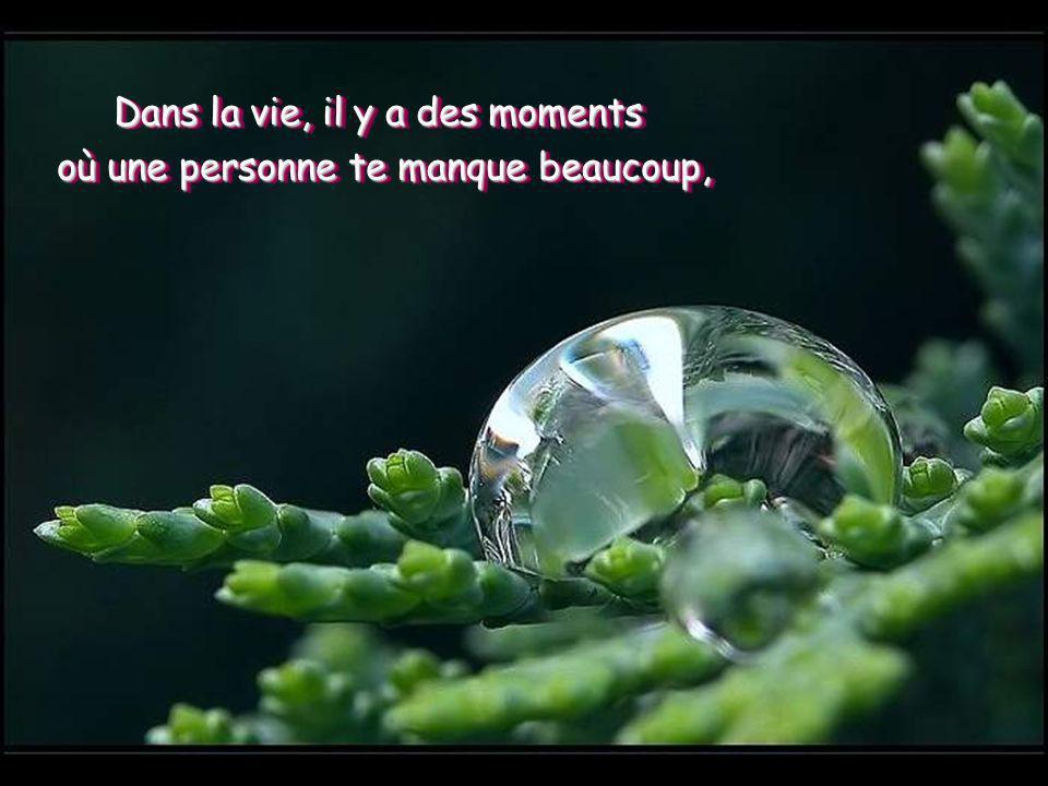 Dans la vie, il y a des moments où une personne te manque beaucoup,