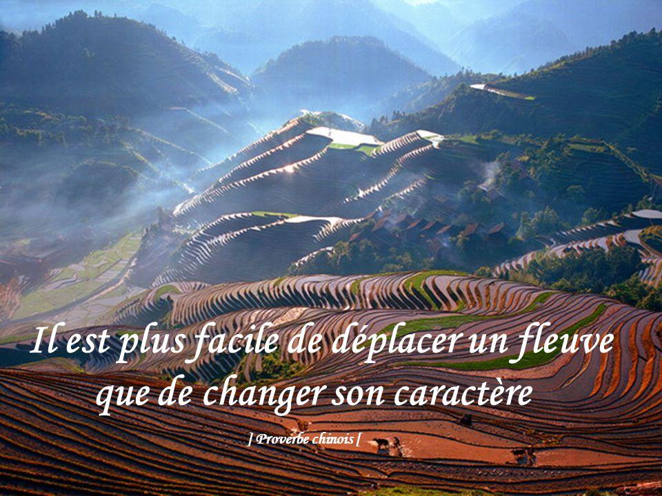Il est plus facile de déplacer un fleuve que de changer son caractère
