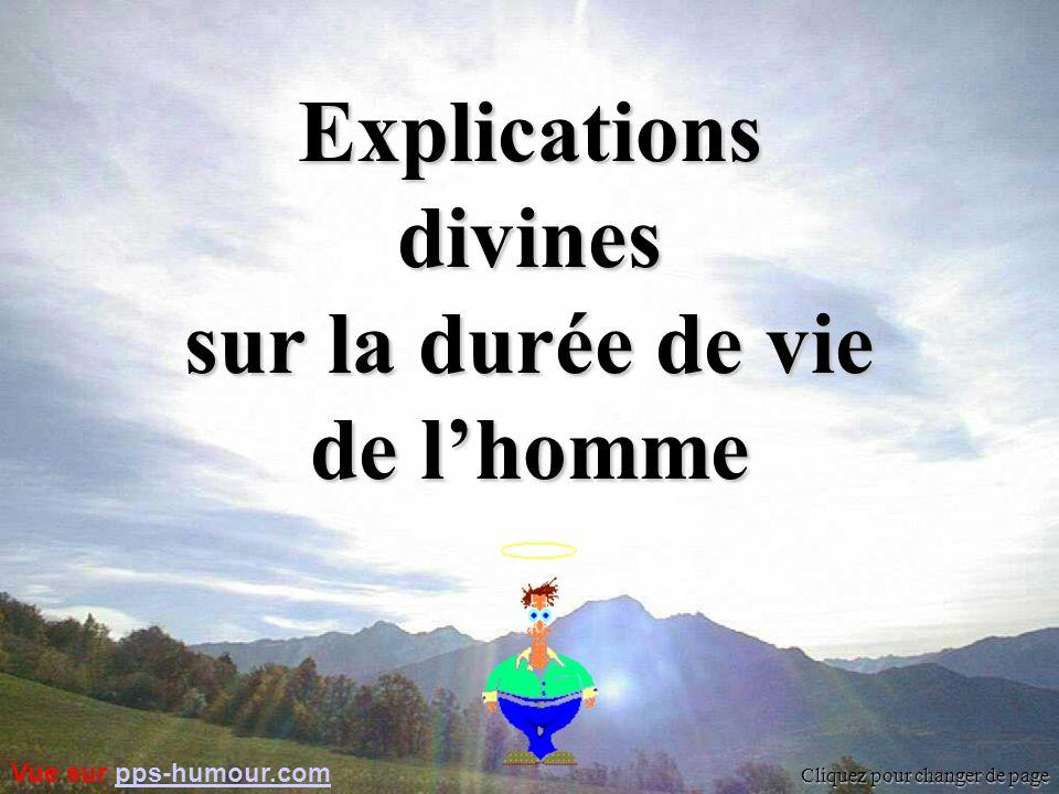 Explications divines sur la durée de vie de l'homme