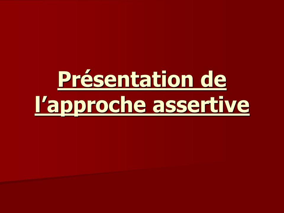 Présentation de l'approche assertive