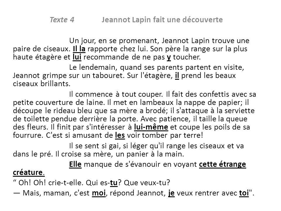 Texte 4 Jeannot Lapin fait une découverte
