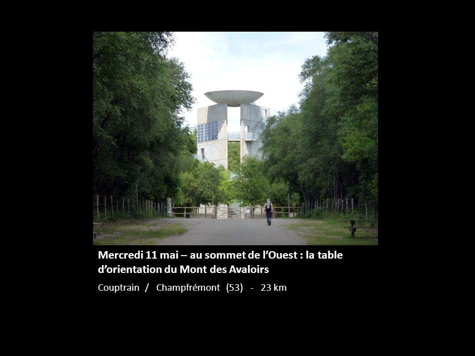 Mercredi 11 mai – au sommet de l'Ouest : la table d'orientation du Mont des Avaloirs