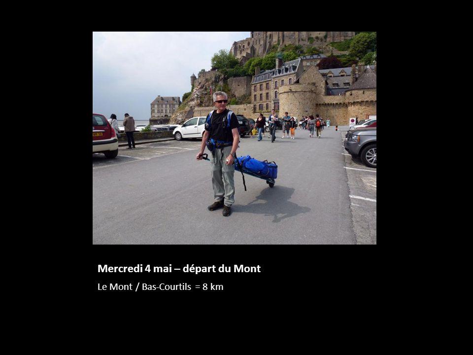 Mercredi 4 mai – départ du Mont
