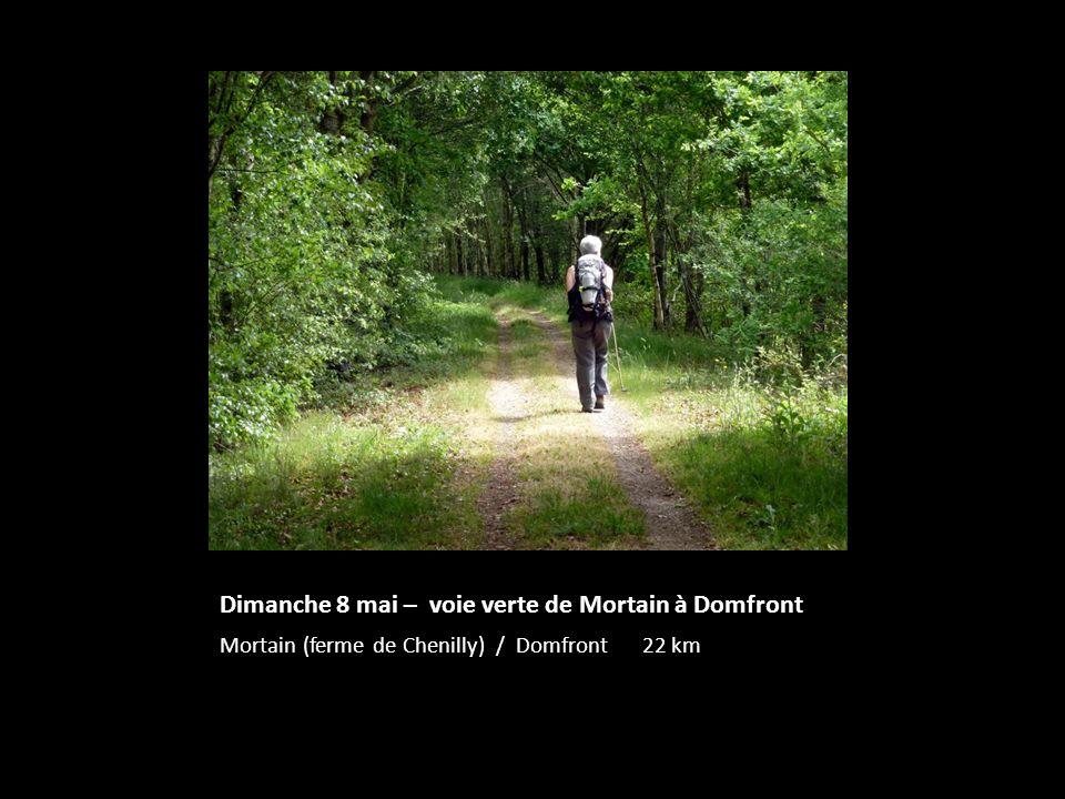 Dimanche 8 mai – voie verte de Mortain à Domfront