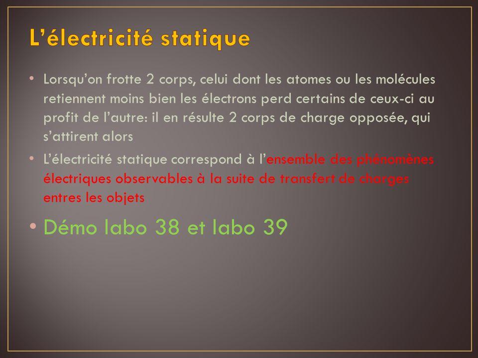 L'électricité statique