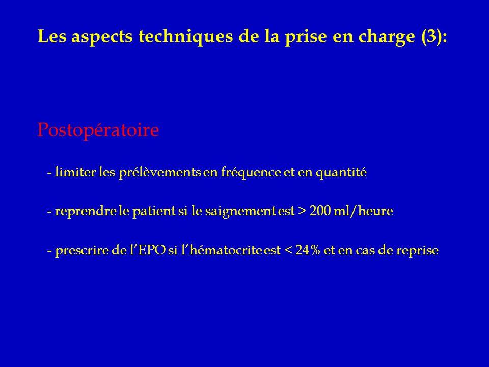 Les aspects techniques de la prise en charge (3):