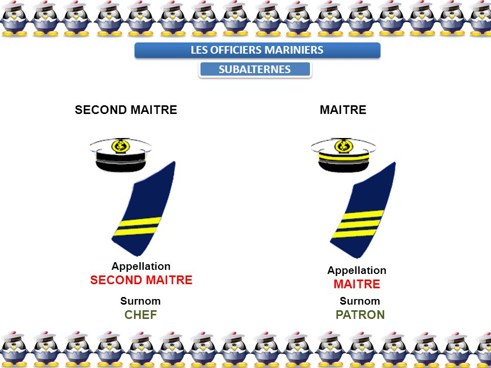 LES OFFICIERS MARINIERS