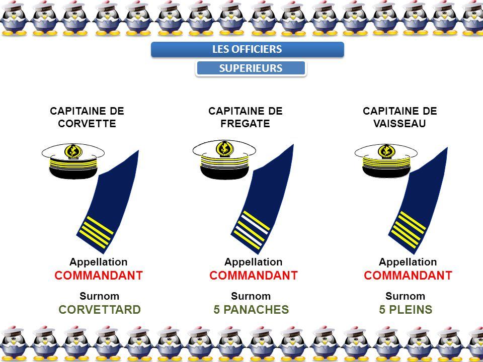 LES OFFICIERS SUPERIEURS COMMANDANT COMMANDANT COMMANDANT CORVETTARD