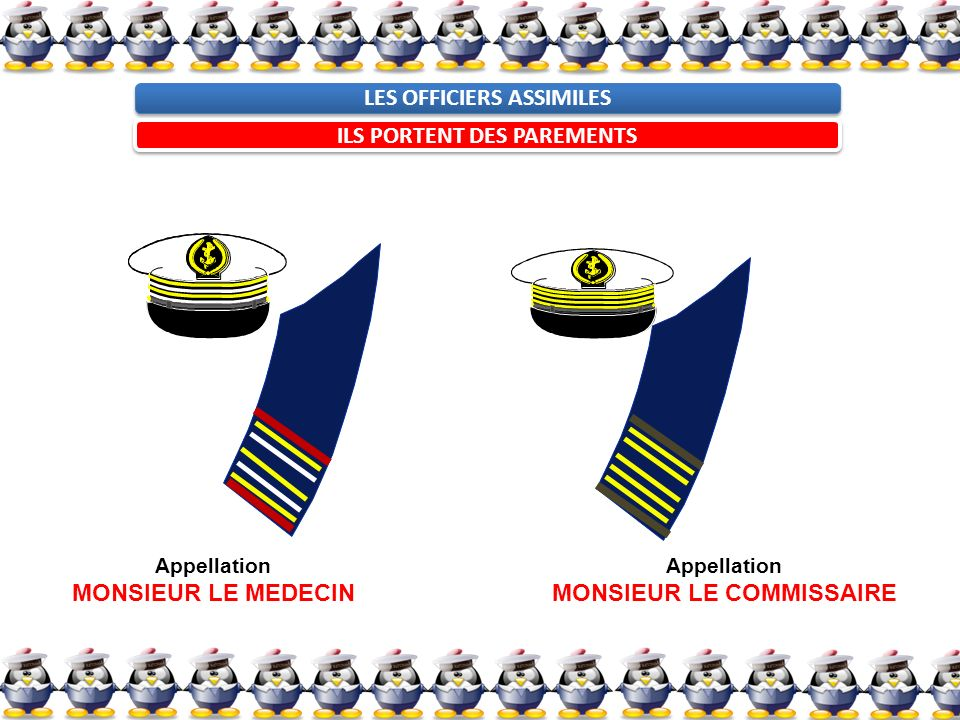 LES OFFICIERS ASSIMILES