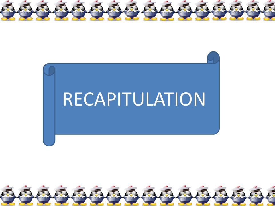 RECAPITULATION