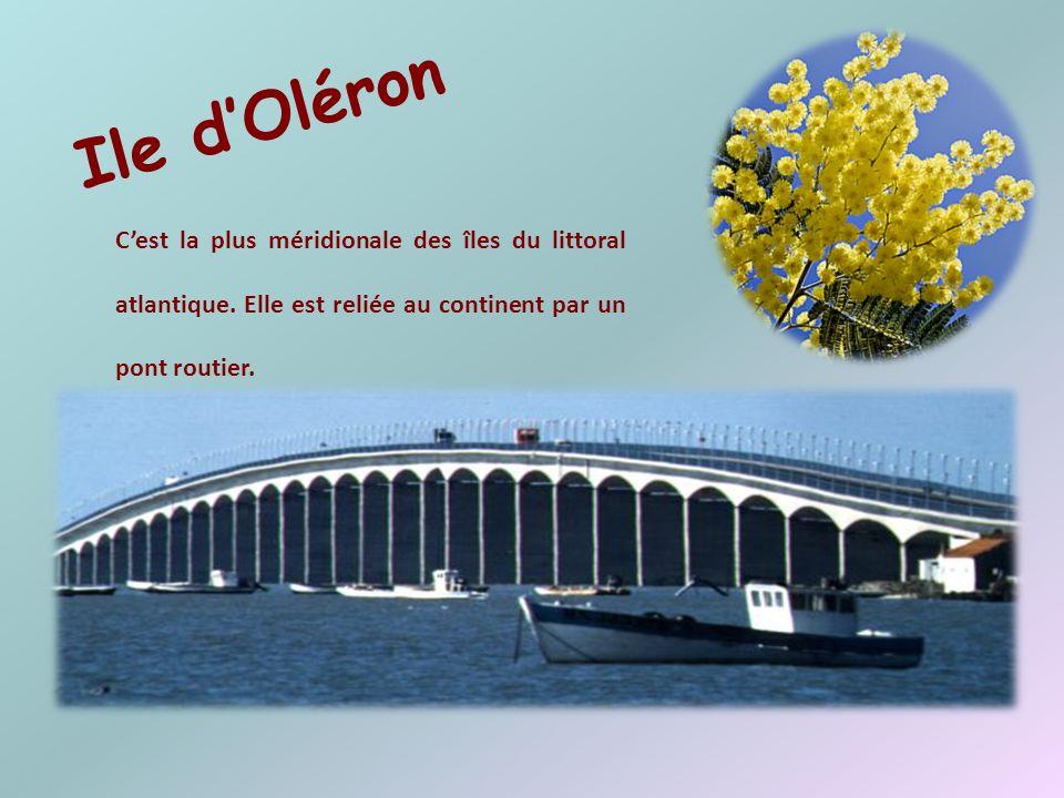 Ile d'Oléron C'est la plus méridionale des îles du littoral atlantique.