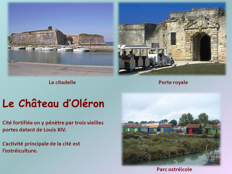 Le Château d'Oléron La citadelle Porte royale