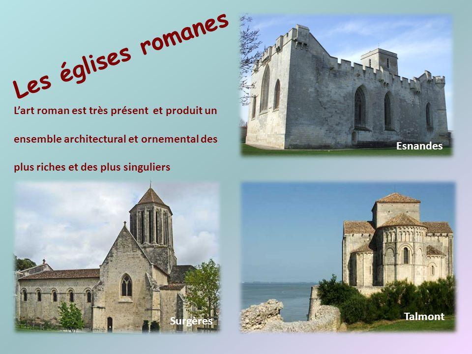 Les églises romanes L'art roman est très présent et produit un ensemble architectural et ornemental des plus riches et des plus singuliers.