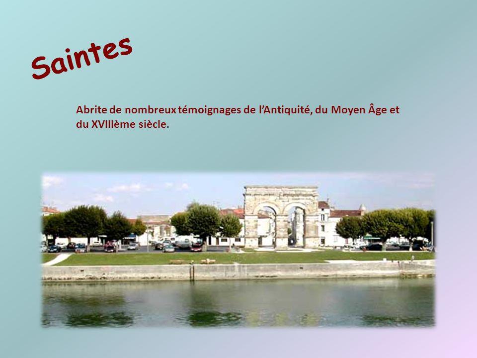 Saintes Abrite de nombreux témoignages de l'Antiquité, du Moyen Âge et du XVIIIème siècle.