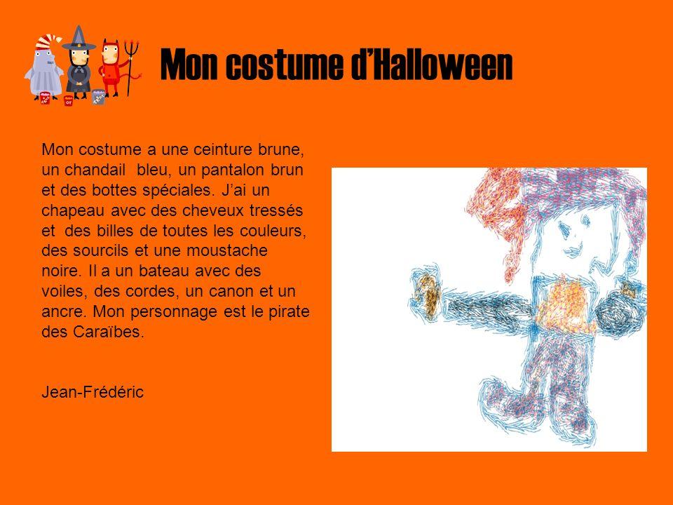 Mon costume d'Halloween