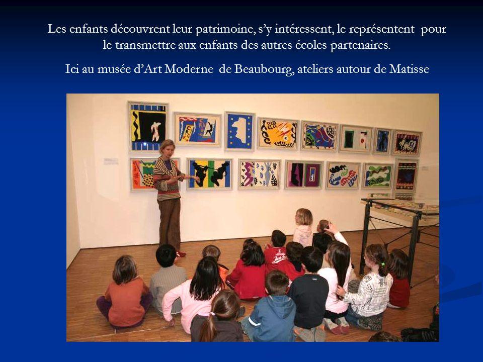 Ici au musée d'Art Moderne de Beaubourg, ateliers autour de Matisse