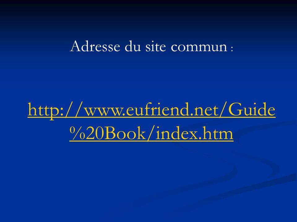 Adresse du site commun :