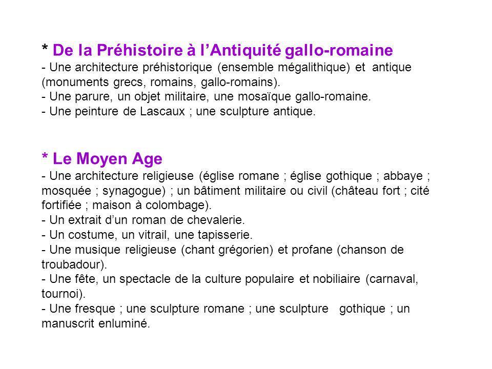 * De la Préhistoire à l'Antiquité gallo-romaine