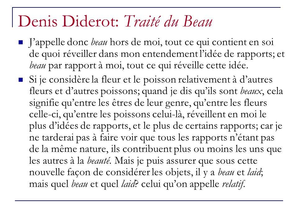 Denis Diderot: Traité du Beau