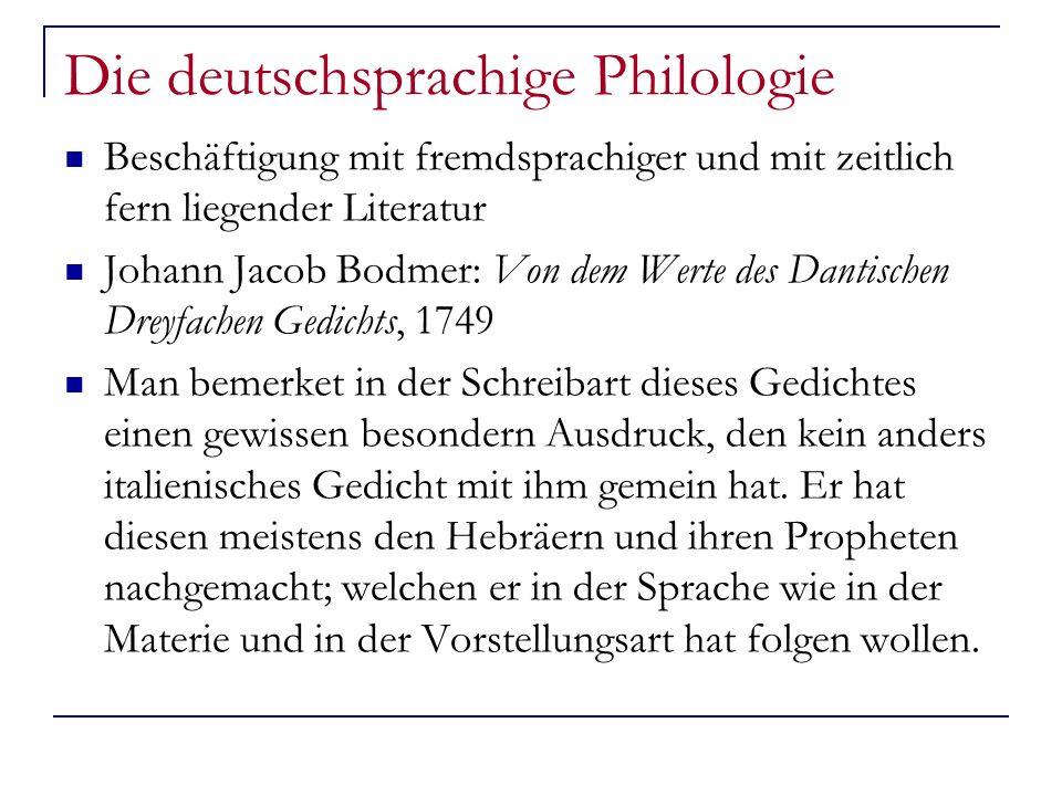 Die deutschsprachige Philologie