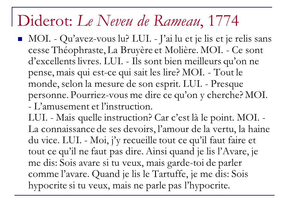 Diderot: Le Neveu de Rameau, 1774