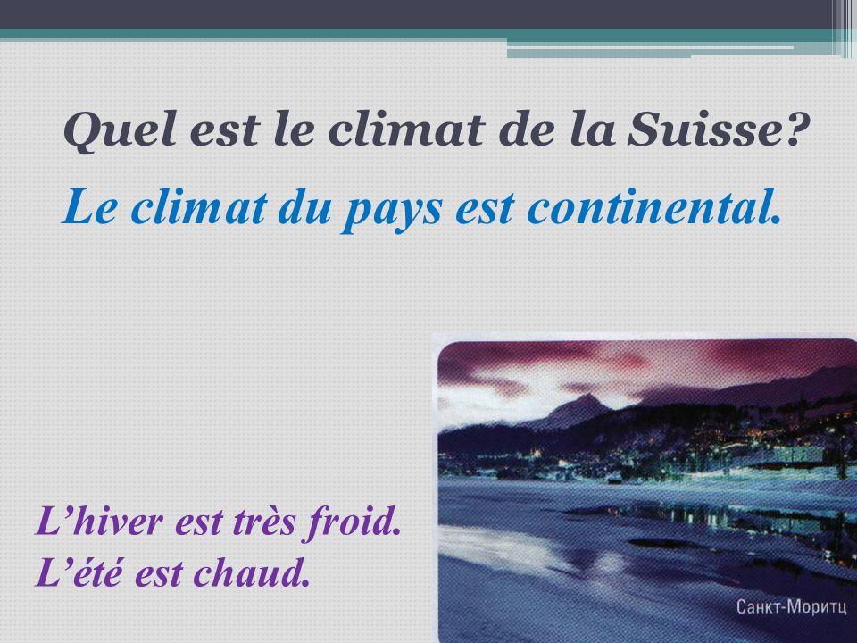 Quel est le climat de la Suisse