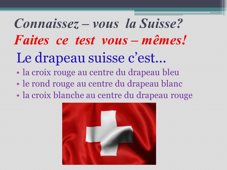 Connaissez – vous la Suisse Faites ce test vous – mêmes!