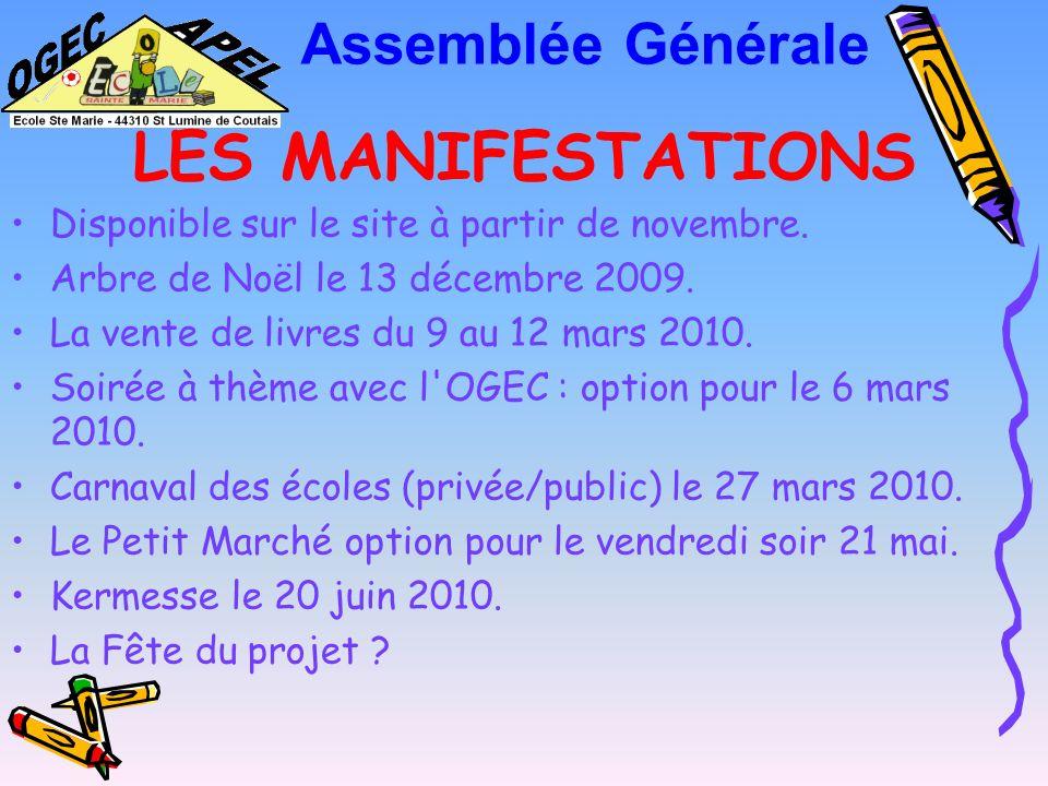 LES MANIFESTATIONS Assemblée Générale