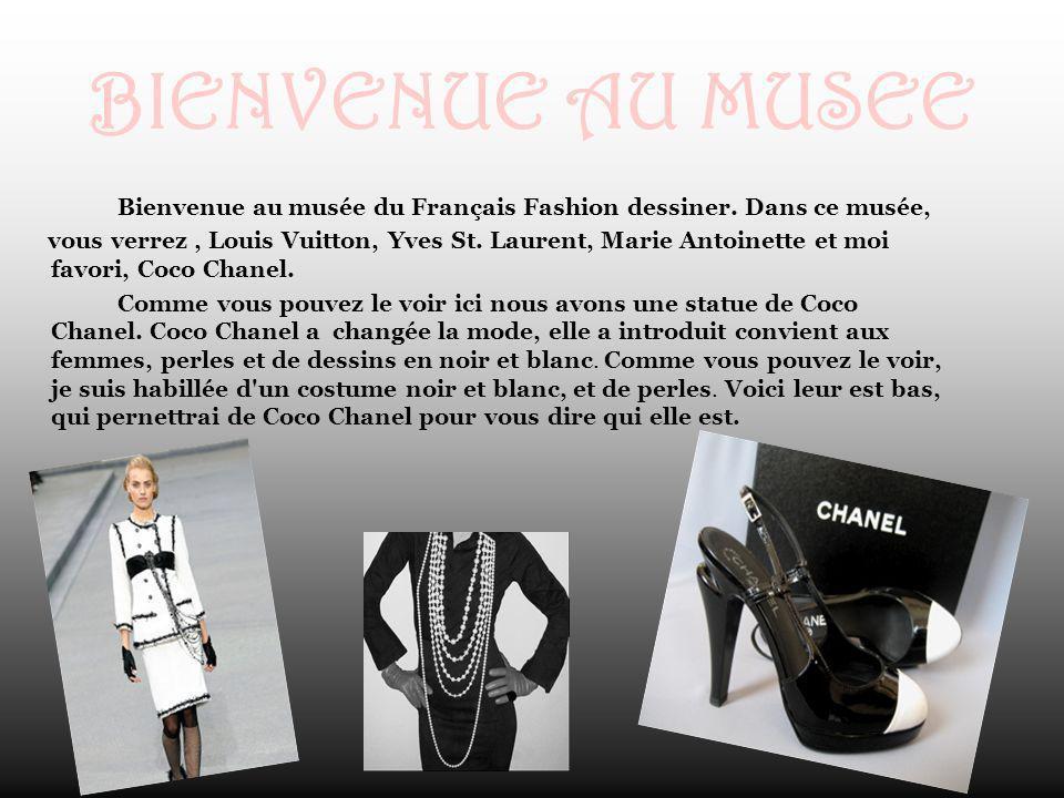BIENVENUE AU MUSEE Bienvenue au musée du Français Fashion dessiner. Dans ce musée,