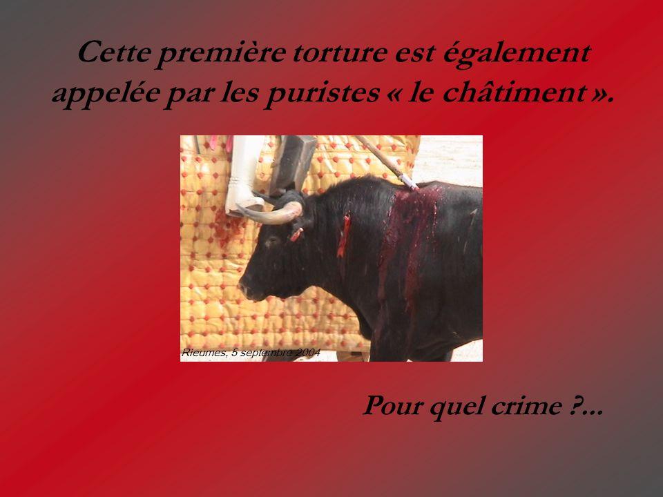 Cette première torture est également appelée par les puristes « le châtiment ».