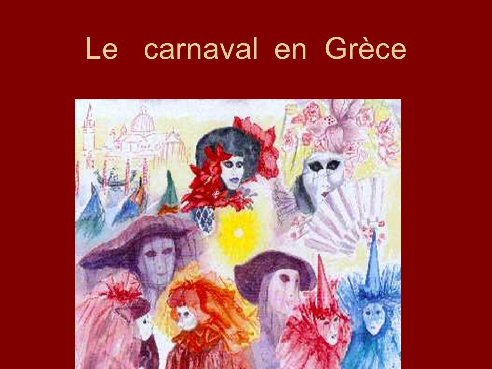 Le carnaval en Grèce