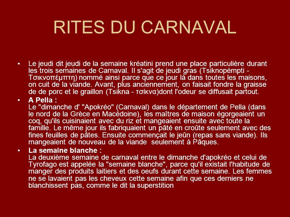 RITES DU CARNAVAL