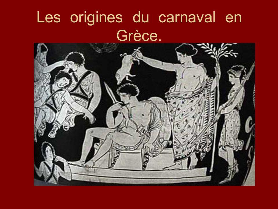Les origines du carnaval en Grèce.