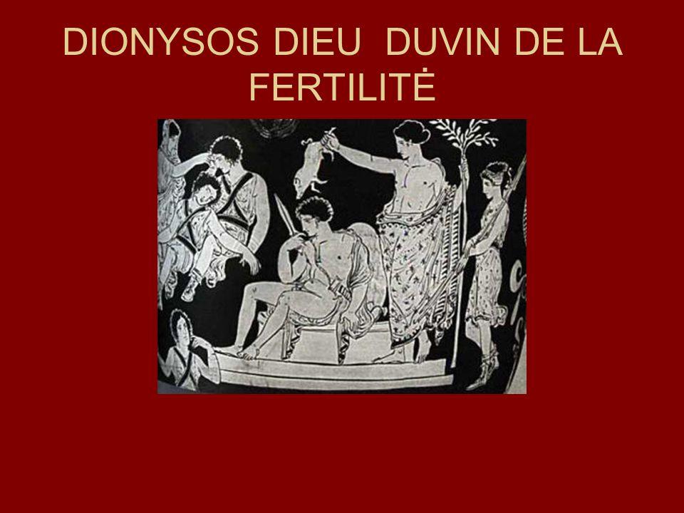 DIONYSOS DIEU DUVIN DE LA FERTILITĖ