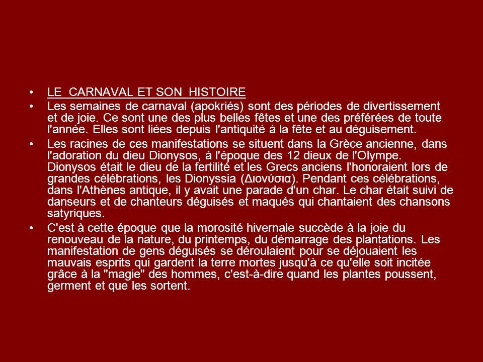 LE CARNAVAL ET SON HISTOIRE