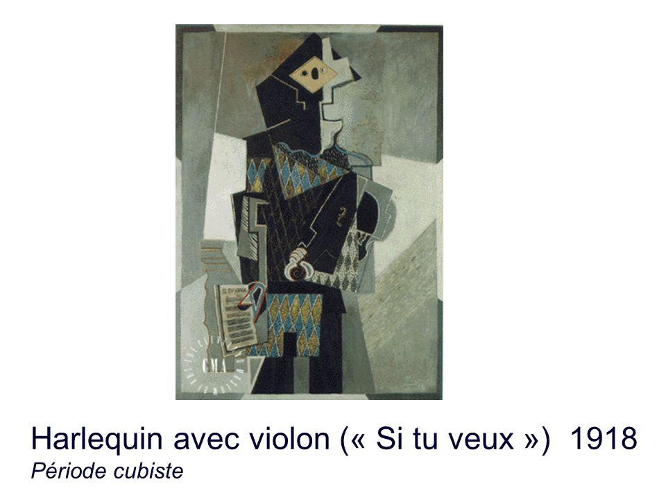 Harlequin avec violon (« Si tu veux ») 1918