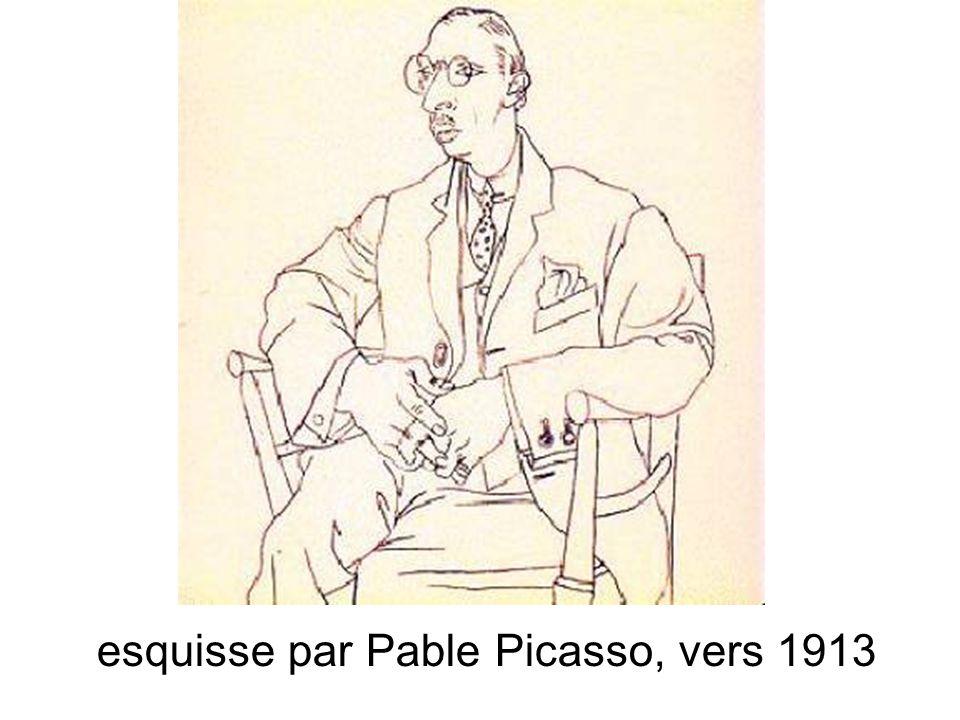 esquisse par Pable Picasso, vers 1913