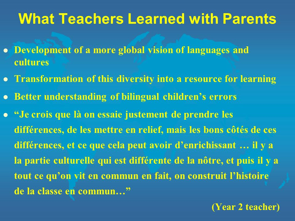 What Teachers Learned with Parents
