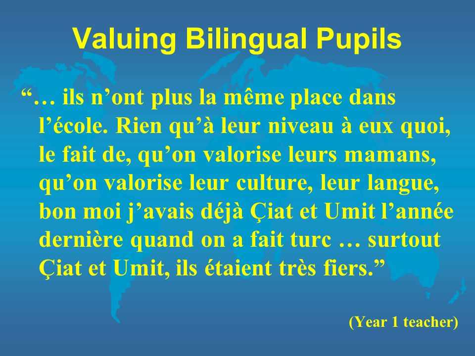 Valuing Bilingual Pupils