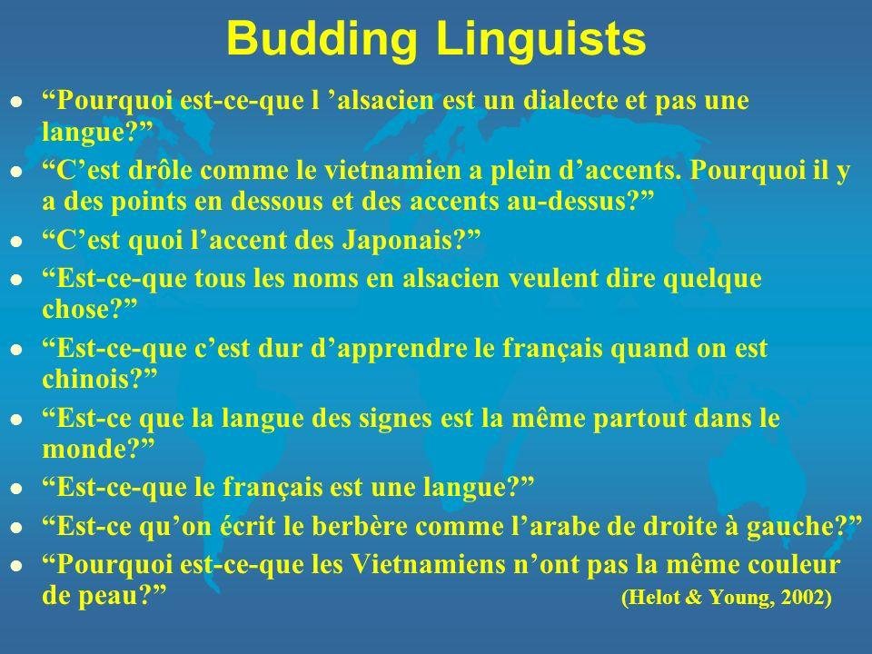 Budding Linguists Pourquoi est-ce-que l 'alsacien est un dialecte et pas une langue