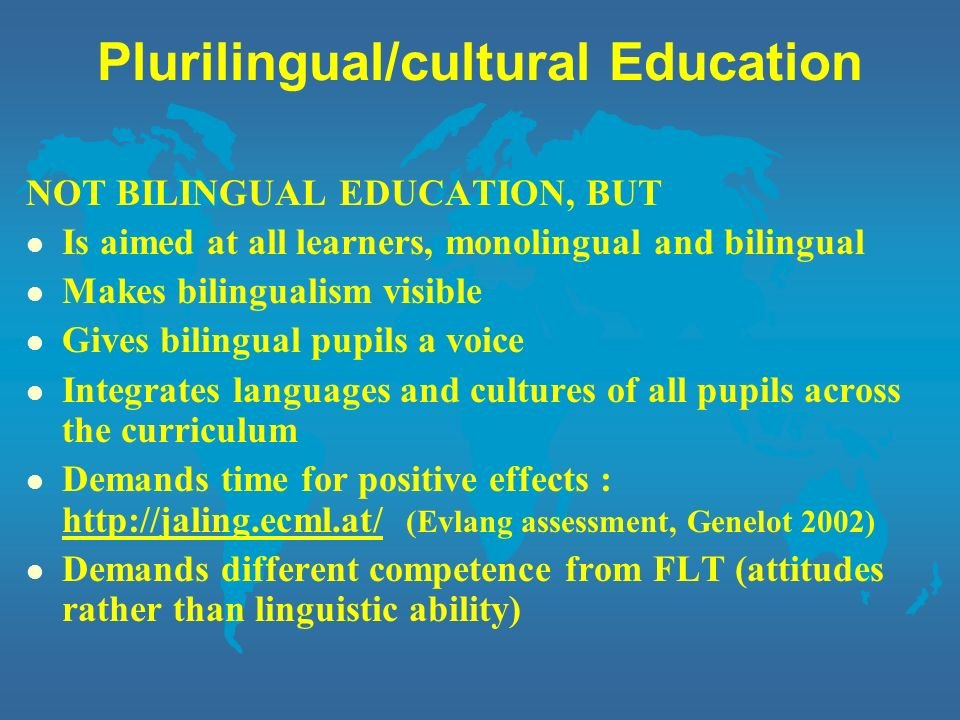 Plurilingual/cultural Education