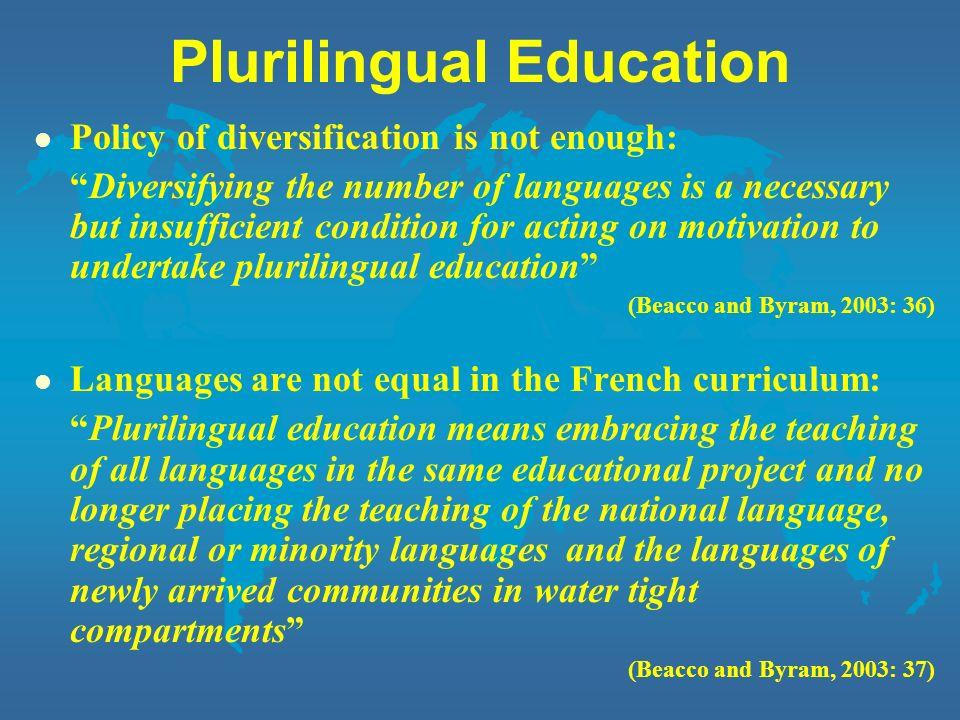 Plurilingual Education
