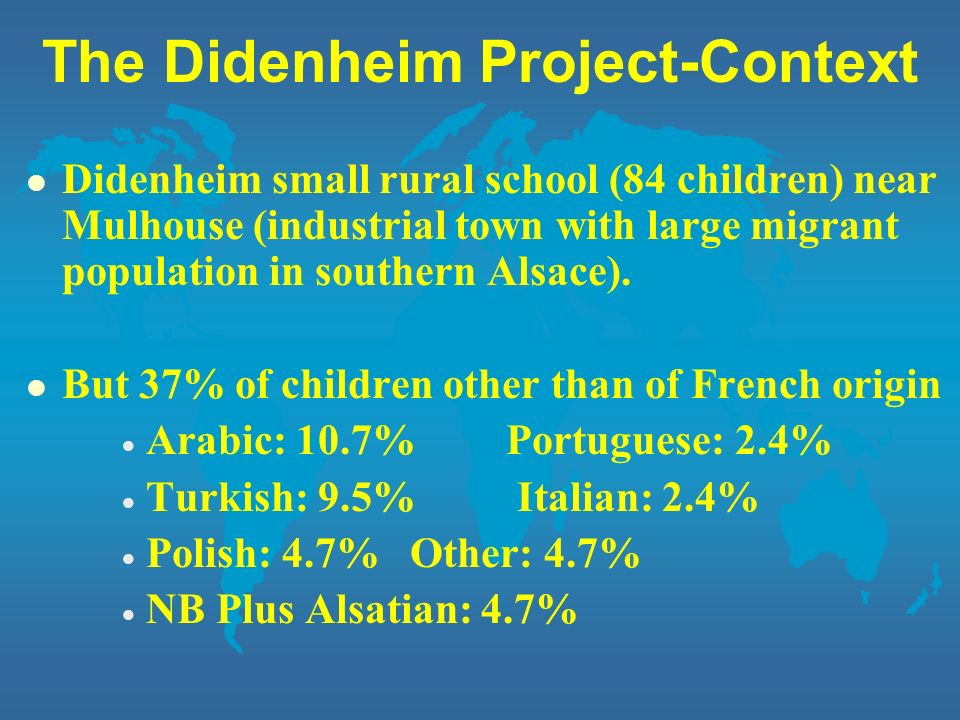 The Didenheim Project-Context