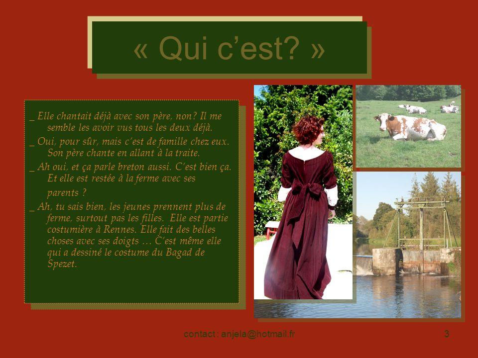 contact : anjela@hotmail.fr