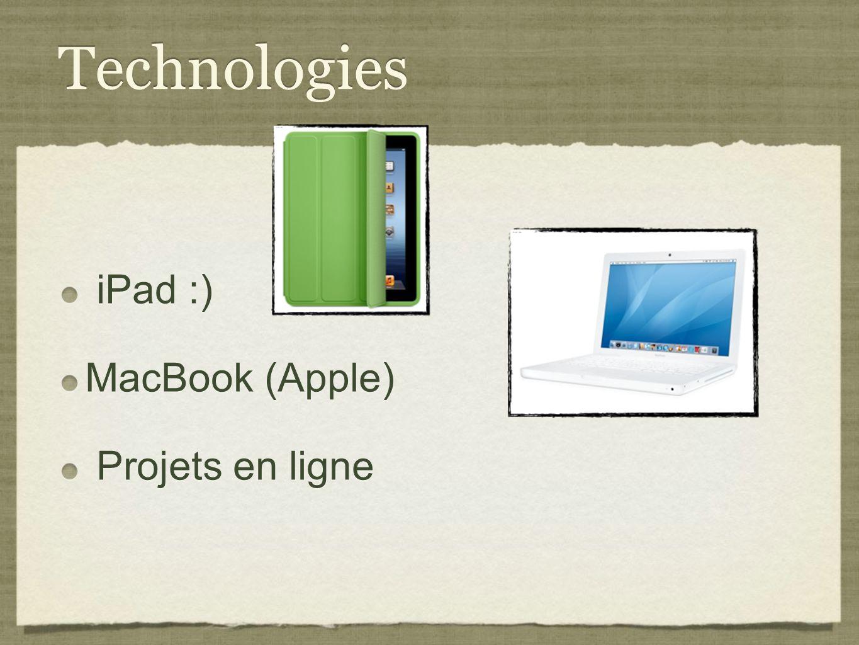 Technologies iPad :) MacBook (Apple) Projets en ligne