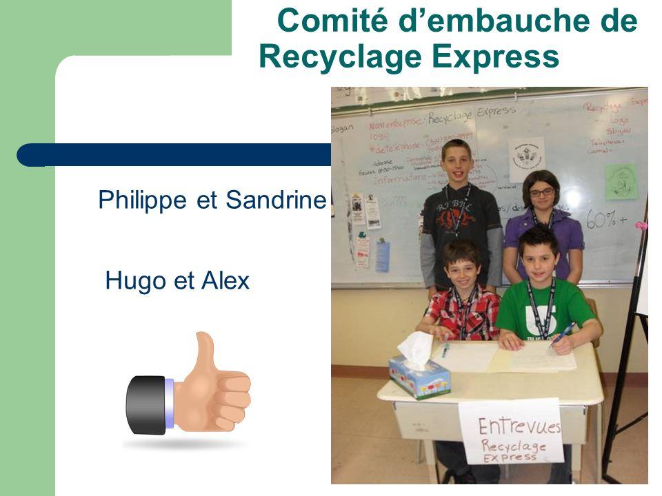 Comité d'embauche de Recyclage Express