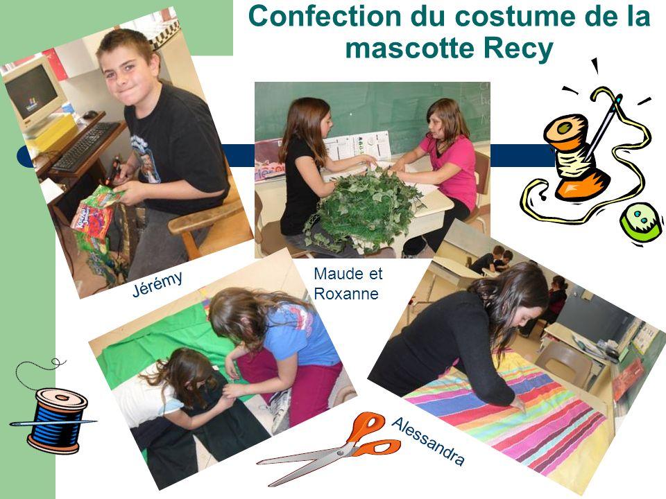 Confection du costume de la mascotte Recy